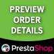 Prestashop Preview Order Details