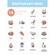 Restaurant Menu - Line Design Icons Set - GraphicRiver Item for Sale