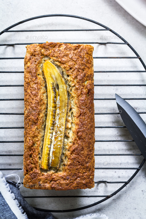 Banana Bread and Nut Loaf - Stock Photo - Images