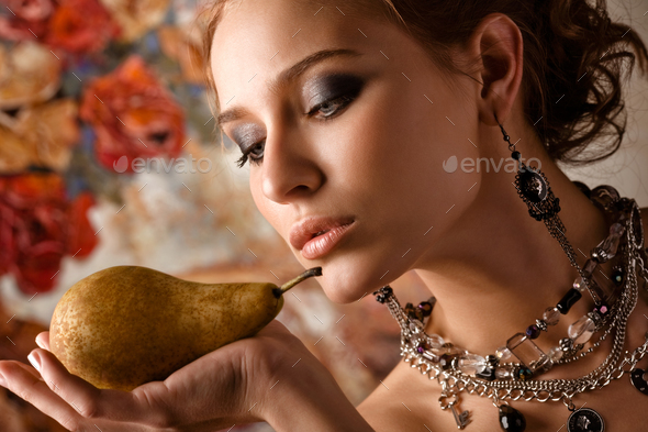 Juicy pear. - Stock Photo - Images