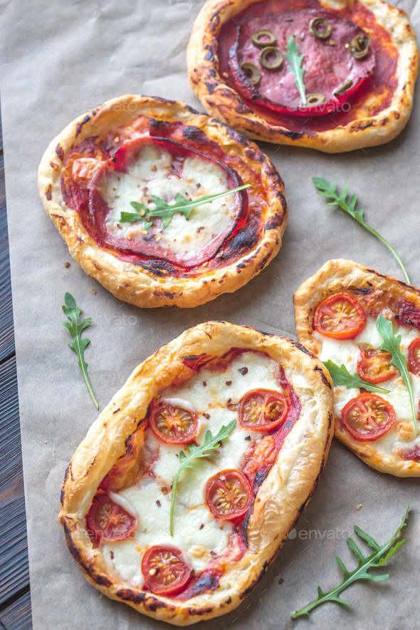 Mini pizzas  - Stock Photo - Images