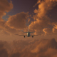 Plane Takes Off At Sunset - VideoHive Item for Sale