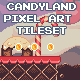 Candyland Pixel Art Tileset - GraphicRiver Item for Sale
