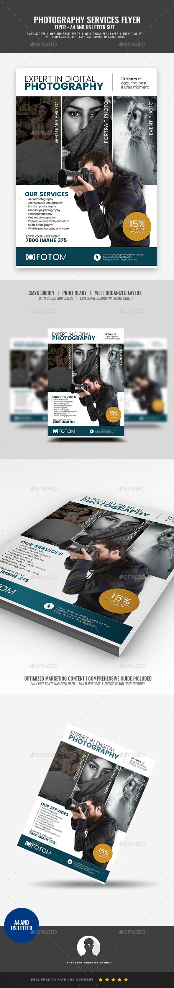 Digital Photography Services Flyer - Corporate Flyers