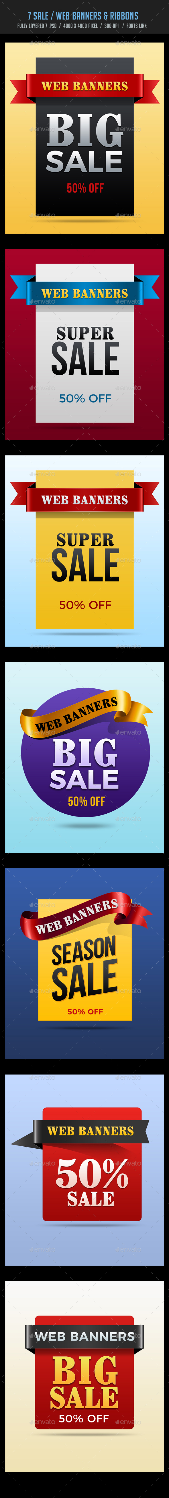 Sale / Web Banners and Ribbons - Banners & Ads Web Elements