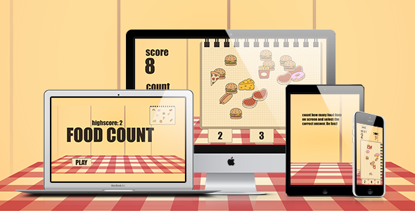 Math Game: Food Count - CodeCanyon Item for Sale
