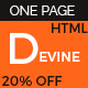 Devine - One Page Parallax Template - ThemeForest Item for Sale