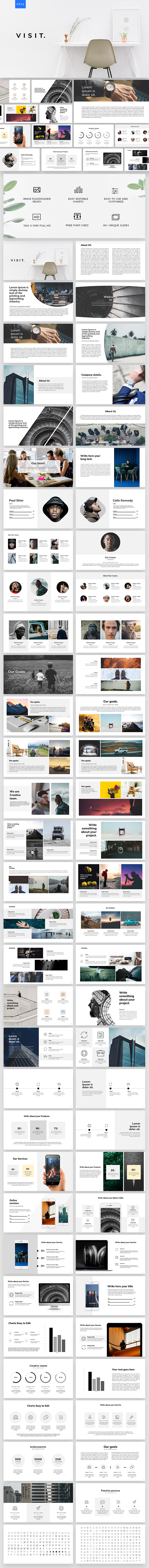 Visit Powerpoint Template - PowerPoint Templates Presentation Templates