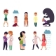 Vector Flat People Suffering From Mental Illness - GraphicRiver Item for Sale