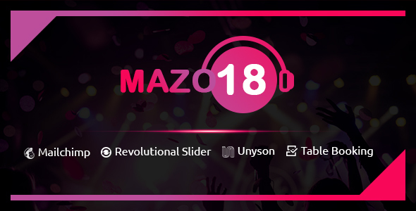 mazo18 wordpress theme (nightlife) Mazo18 WordPress Theme (Nightlife) preview