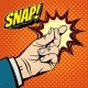 Male Hand with Snapping Finger Magic Gesture - GraphicRiver Item for Sale