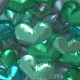 Heart Shaped Baloons Transition Footage Gamma Green - VideoHive Item for Sale