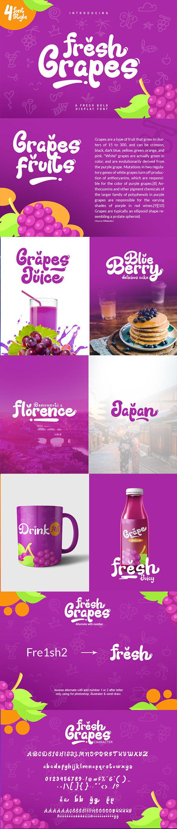 Fresh Grapes Font - Decorative Fonts