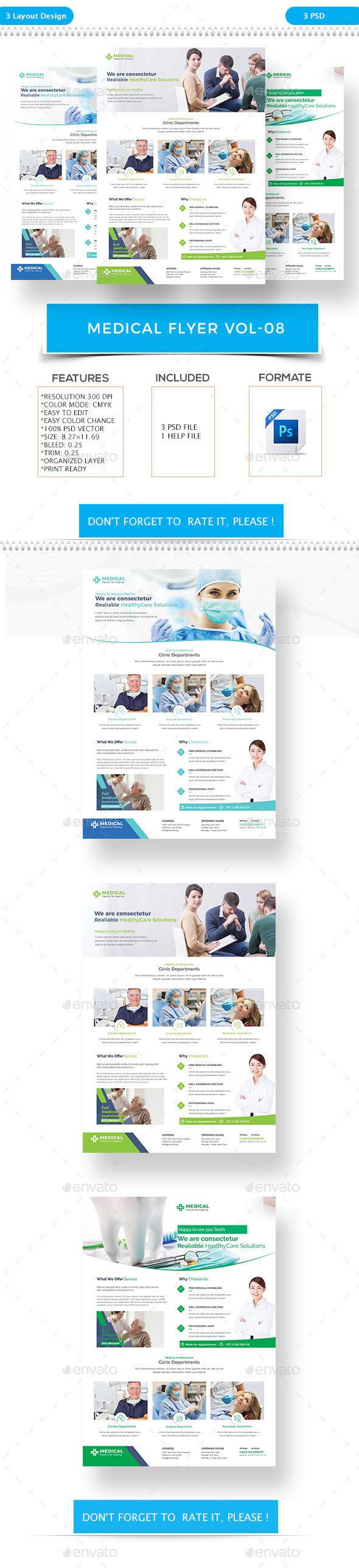 Medical Flyer VOL-8 - Flyers Print Templates