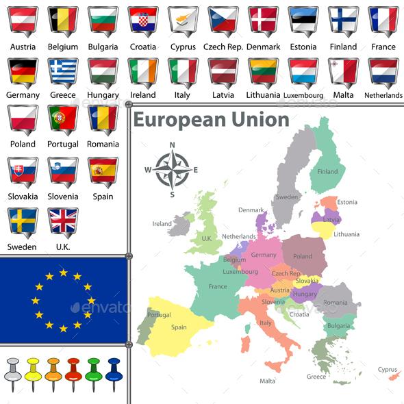 Maps of European Union - Travel Conceptual
