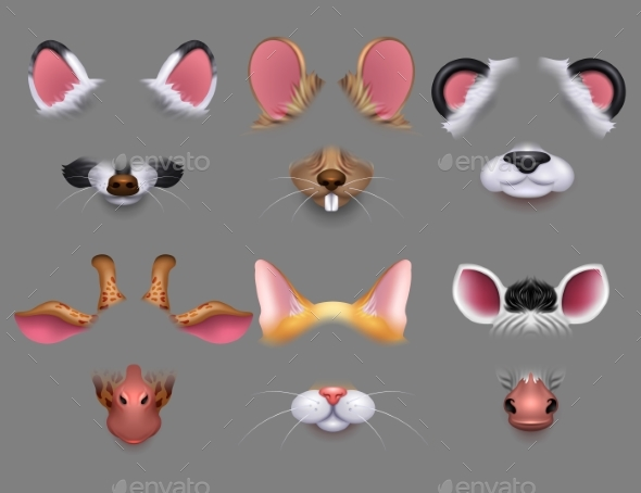 Animal Ears and Nose Video Effect Filters - Animals Characters