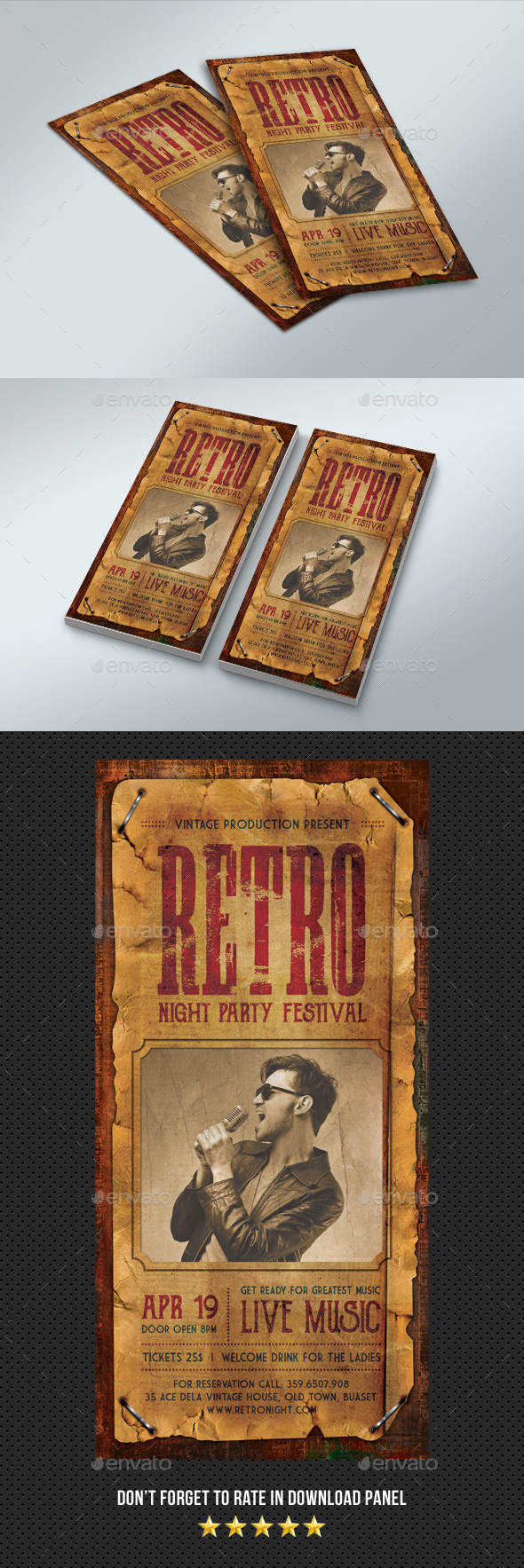 DL Retro Flyer - Events Flyers