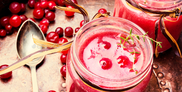 Berry Cranberry Smoothie - Stock Photo - Images