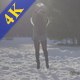 Girl Has Fun with Snow Balls - VideoHive Item for Sale