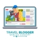Travel Weblog Concept Vector