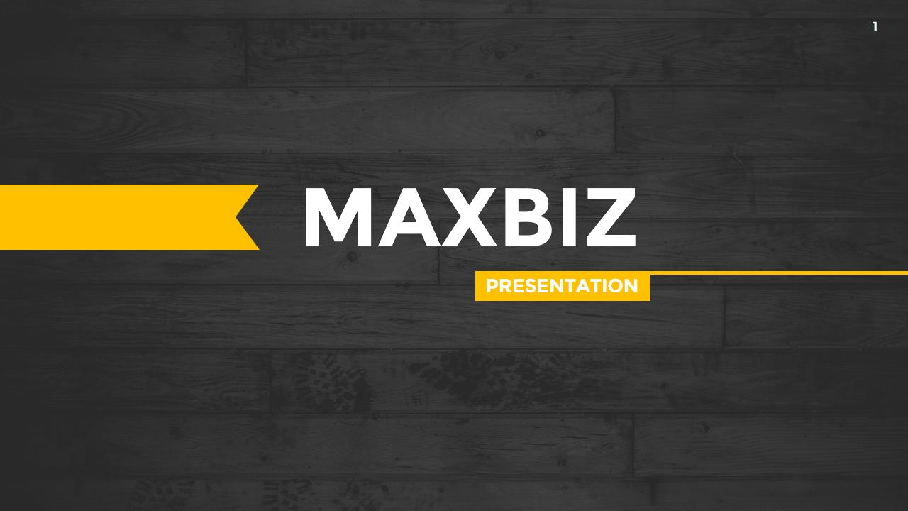 Maxbiz - Business PowerPoint