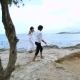 Happy Newlyweds on the Beach - VideoHive Item for Sale