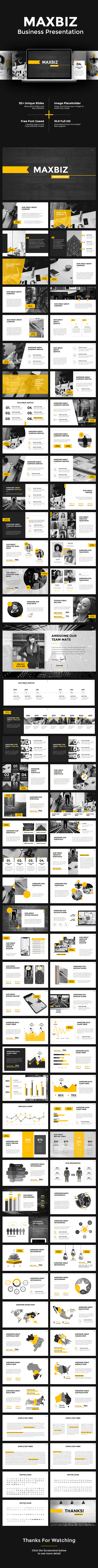 Maxbiz - Business Keynote - Business Keynote Templates
