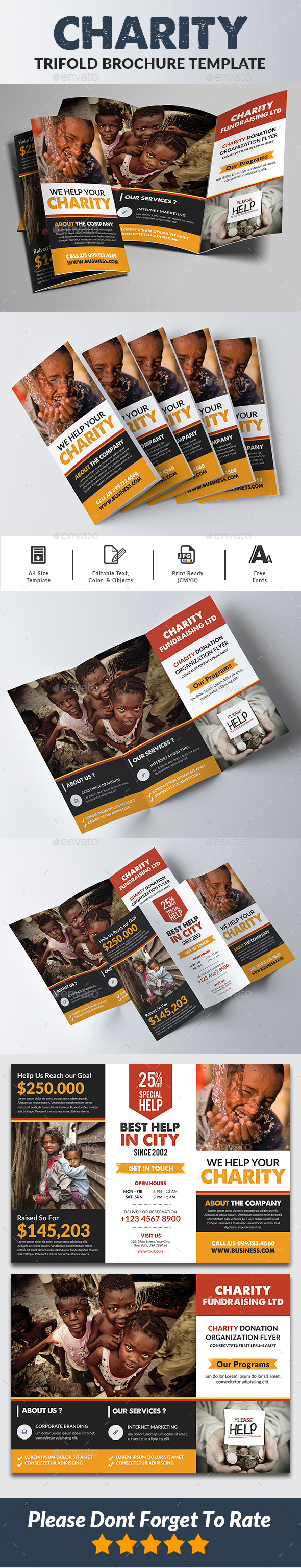 Charity Trifold Brochure - Corporate Brochures