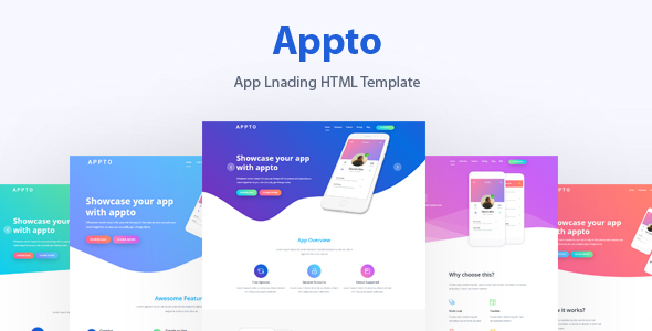 App Landing Template - Marketing Corporate