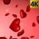 Red Hearts Falling - VideoHive Item for Sale
