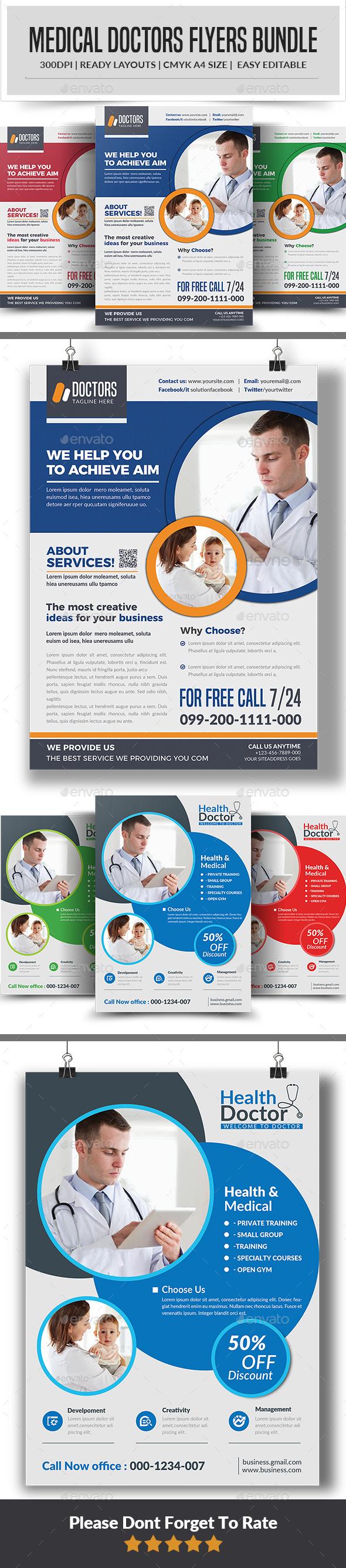 Doctors Flyers Bundle template - Corporate Flyers