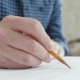 Artists Hands Drawing Wooden Pencil Writes on Paper. - VideoHive Item for Sale