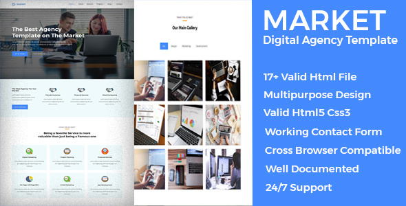 Market - Digital Agency Multipurpose Template - Technology Site Templates