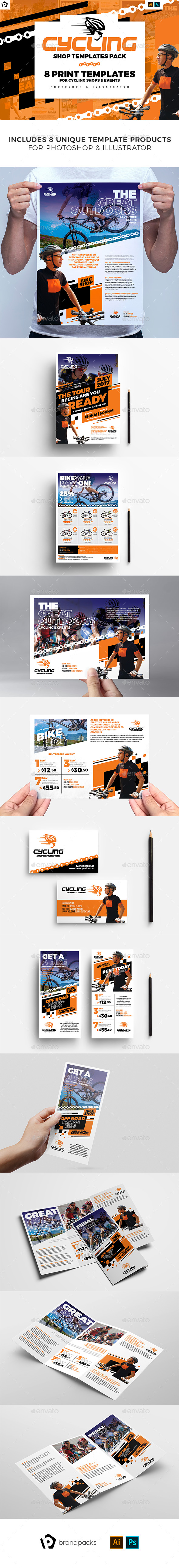 Cycling Shop Templates Pack - Sports Events