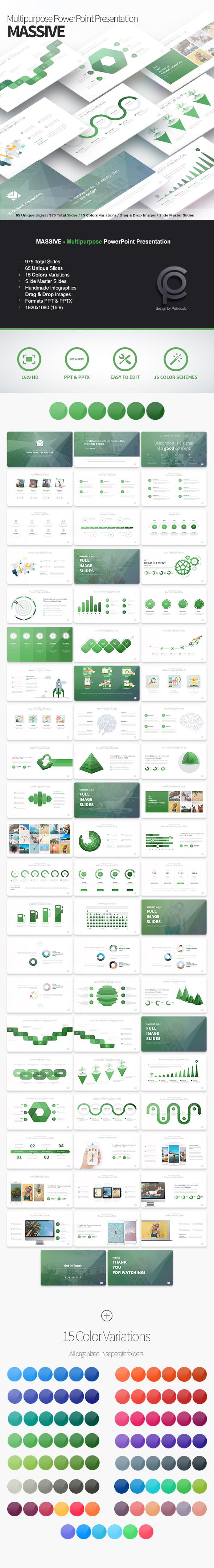 MASSIVE - Multipurpose PowerPoint Presentation - Business PowerPoint Templates