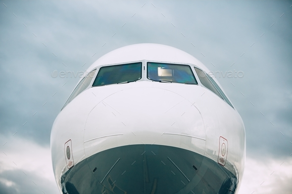 Front view of the airplane - Stock Photo - Images