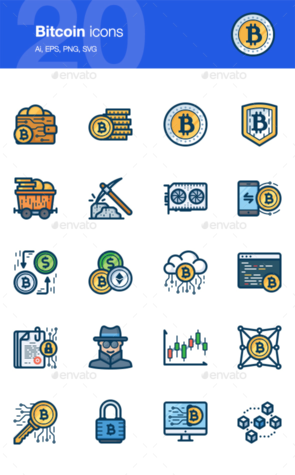 20 Bitcoin icons - Technology Icons