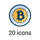 20 Bitcoin icons - GraphicRiver Item for Sale