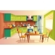 Vector Cartoon Illustration of Kitchen Interior