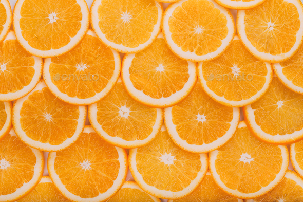 Orange Fruit Background. Summer Oranges. Healthy Food - Stock Photo - Images
