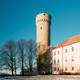 Tallinn, Estonia. View Of Upper Town Castle Corner Tower Tall He - PhotoDune Item for Sale