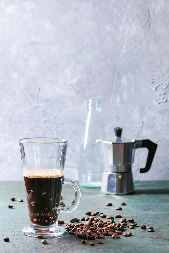Coffee espresso with sparkling water - Stock Photo - Images