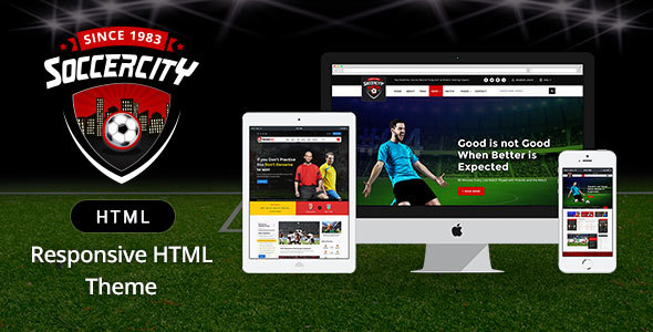 Soccer Sports - Soccer & Sports HTML Template - Nonprofit Site Templates