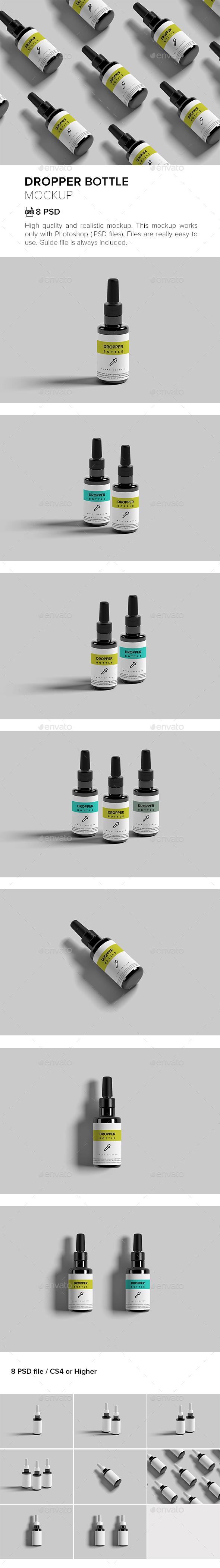 Dropper Bottle Mock-ups - Packaging Product Mock-Ups