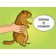 Groundhog in Hands Pop Art Vector Illustration