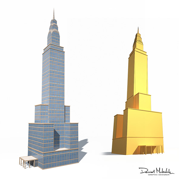Skyscrapper 14 Low Poly - 3DOcean Item for Sale