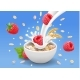 Porridge Oats in Bowl with Raspberry - GraphicRiver Item for Sale