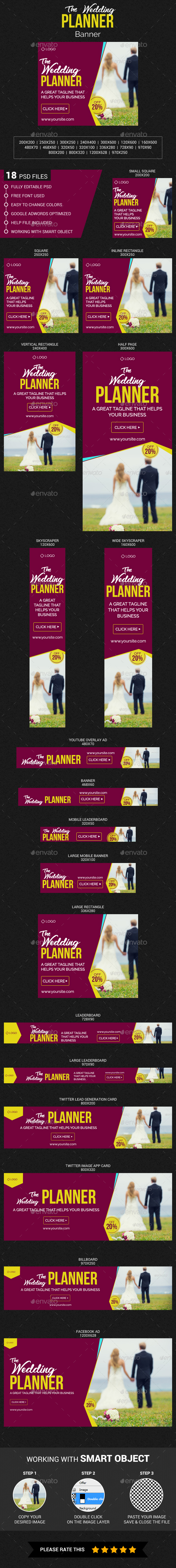 Wedding Planner - Banners & Ads Web Elements