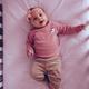 Cute baby girl in bed - PhotoDune Item for Sale