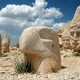 Heads of the gods on East terrace at the top of Nemrut dagi in Turkey - PhotoDune Item for Sale